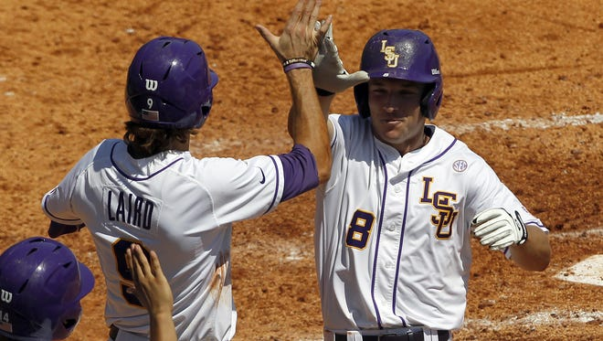 LSU junior shortstop Alex Bregman (8) has been named to the watch list for the 2015 Brooks Wallace Award.