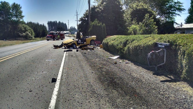 Silverton Road is closed until noon after a single-vehicle rollover crash.