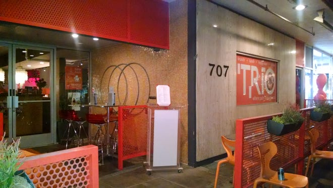 The entrance to Trio Restaurant in uptown Palm Springs.