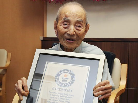 AP JAPAN OLDEST MAN I FILE JPN
