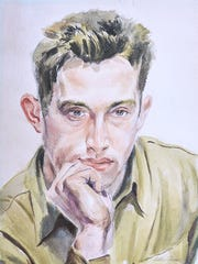 A self portrait by Singer, done during World War II.