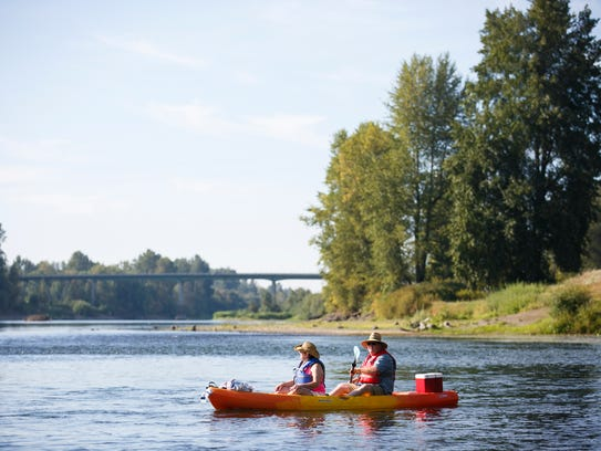 Kayakers take off from Riverview Park in Independence
