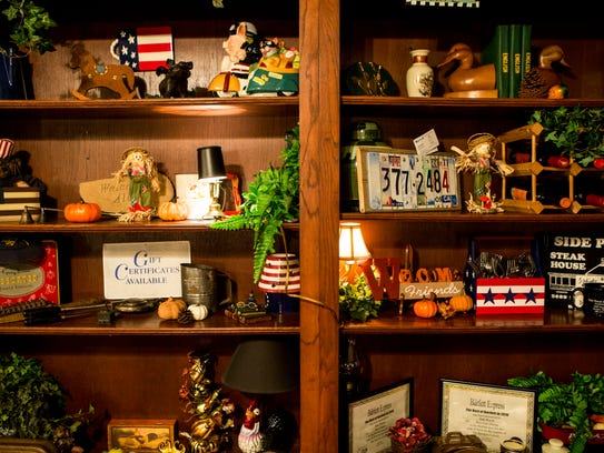 November 18, 2016 - Full shelves welcome diners at