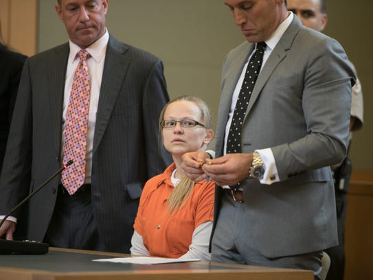Angelika Graswald cries as she pleads guilty to criminally