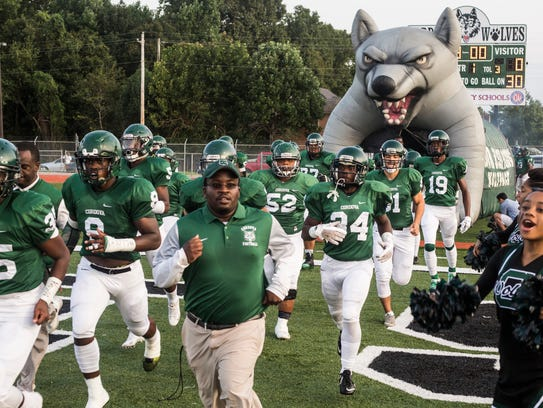 September 01, 2017 - Cordova's football team enters