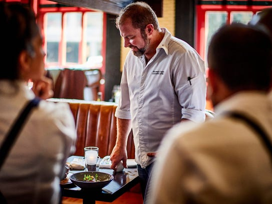 """Thomas Lents, executive chef of the Foundation Hotel, hung up two Michelin stars in Chicago to cook in Detroit. He'll be part of the after-film program at the Freep Film Festival screening of """"Michelin Stars."""""""
