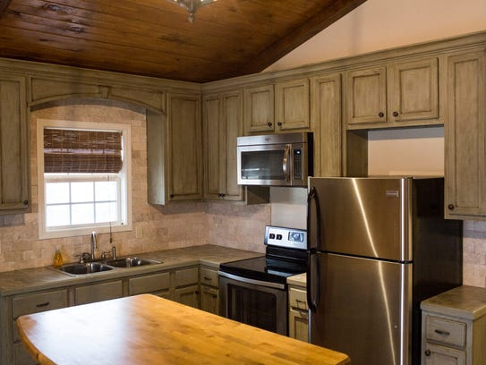 The inside of a kitchen from one of the homes designed