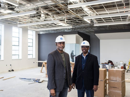 Owners and architects Juan Self, left, and Jimmie Tucker