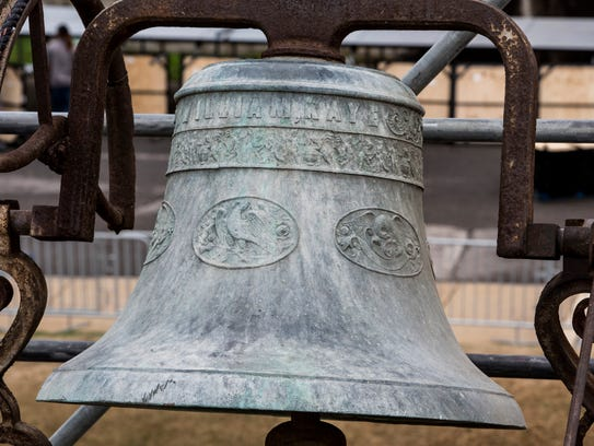 The Clayborn Temple bell was rediscovered a few years ago by workers with Montgomery Martin Contractors, the Memphis company overseeing the rehab of the historic church.