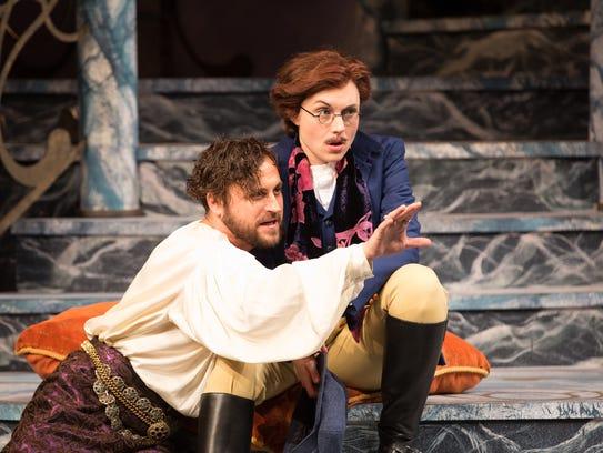 Charles Pasternak as Duke Orsino with Marina Shay as