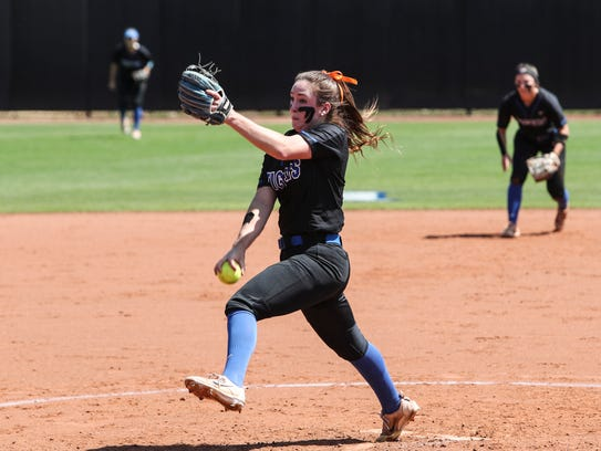 Tiger senior pitcher Molly Smith set school records for shutouts in a season and strikeouts in a career this spring.