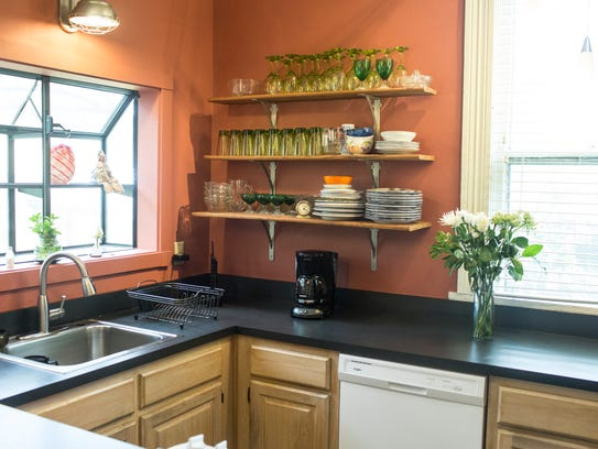 May 08, 2018 - The kitchen is seen inside the house for sale in the heart of the Cooper-Young neighborhood. The house offers a lot more than 1,500 square feet, two bedrooms, bathroom as well as a backhouse. This is a house designed for social interaction with friends and friendly strangers alike. And it's located for short, easy walks to restaurants, coffee shops, the bookstore, nightspots and community events.