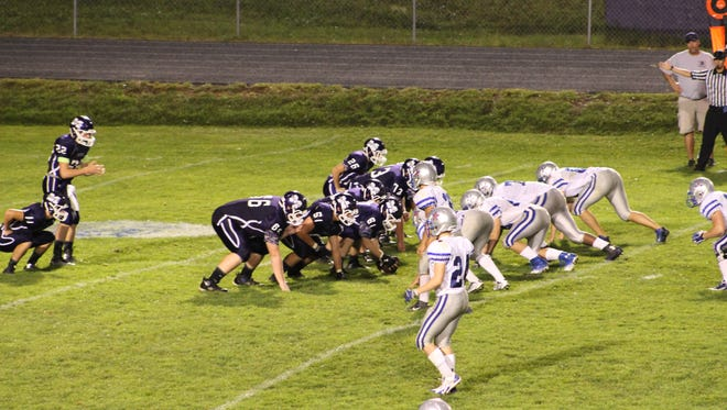 Mitchell's football team beat McDowell in overtime Friday night.