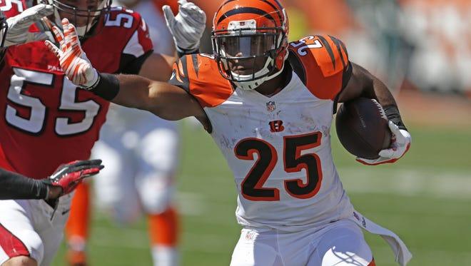 Cincinnati Bengals running back Giovani Bernard.