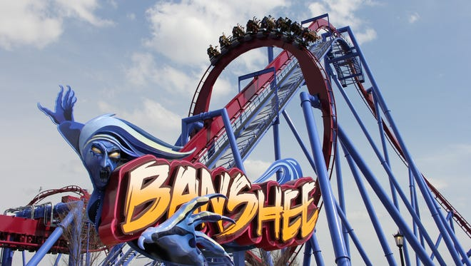 The Banshee is among the more than 100 rides, shows and attractions at Kings Island near Cincinnati, Ohio. It takes about two-and-a-half hours to drive there form Indianapolis.