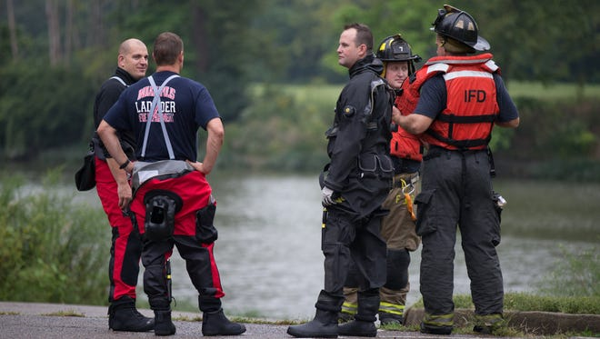 Firefighter took part in a futile search for a missing boater on the White River.
