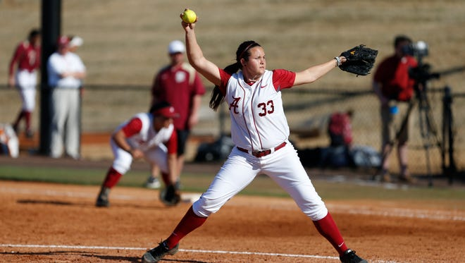 Jackie Traina, pitching against Florida State earlier this season, has faced six of the seven opposing teams in the Women's College World Series in her career.