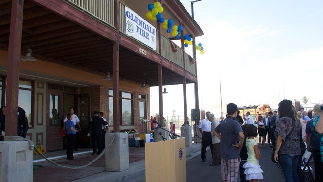 Glendale Fire Department officials had a rededication of the Sine Building  on June 17 after moving the department's fire administration team into the building.