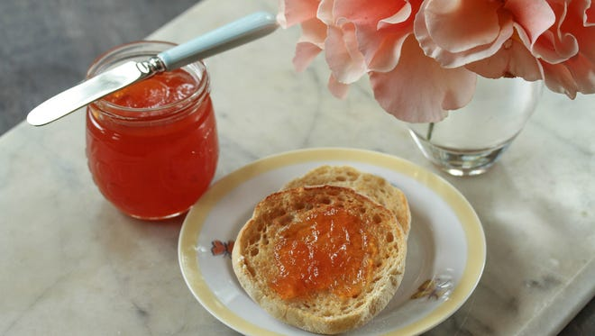 A touch of cinnamon adds a unique flavor to this peach jam.