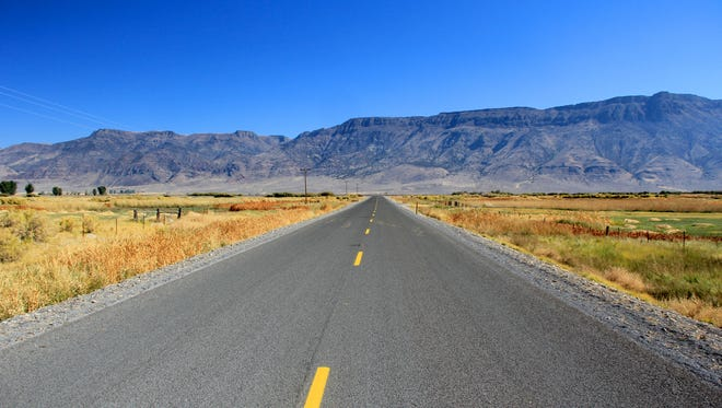 A road outside the small town of Plush leads to the Hart Mountain National Antelope Refuge in southeast Oregon.