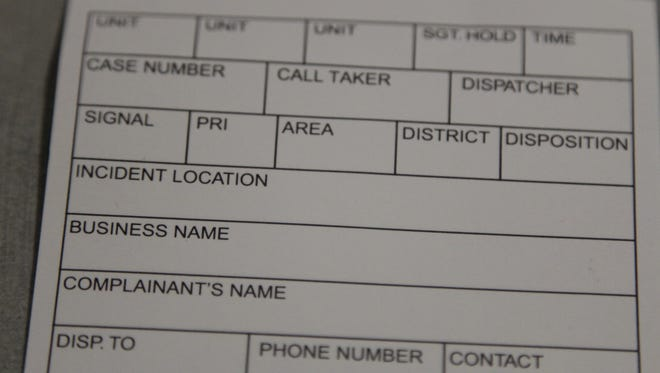 For a period of nearly two hours Wednesday, 911 call takers had to take down information on these white cards and then pass physically pass those cards to dispatchers across the room.