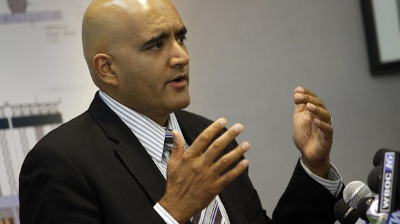Transportation Secretary Shailen Bhatt appeared Thursday before the Bond Bill committee, which agreed to allow Gov. Jack Markell's administration to raise tolls to fund road projects.