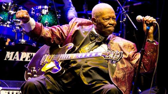 In this Nov. 11, 2011 photo, B.B. King performs at Club Nokia in Los Angeles.