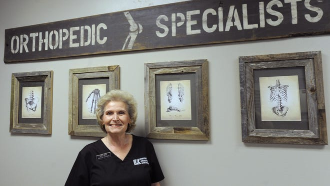 Helen Shaner, head of medical records at Orthopedic Specialists & Sports Medicine, has been working for the Newark medical office for 40 years.