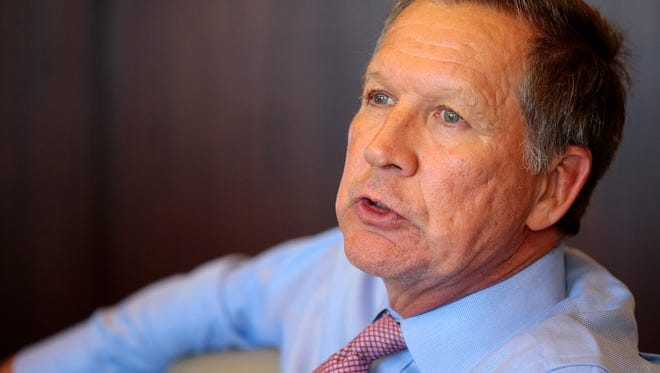 Ohio Gov. John Kasich speaks with the Enquirer editorial board on April 10, 2017.