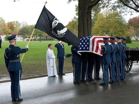 A team from the U.S. Air Force Honor Guard, Joint Base