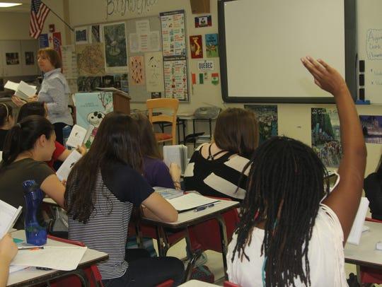 Leon High School teacher Colette Clarke leads a class.