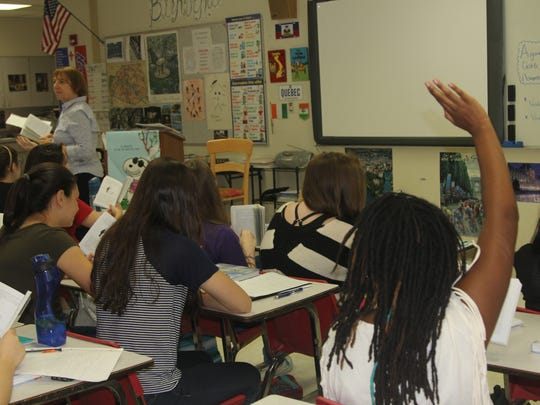 Leon High School teacher Colette Clarke leads a class.
