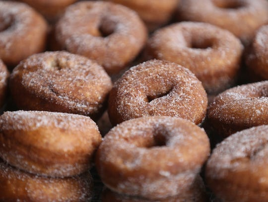 Fresh doughnuts from the popular Duke's Donuts at the