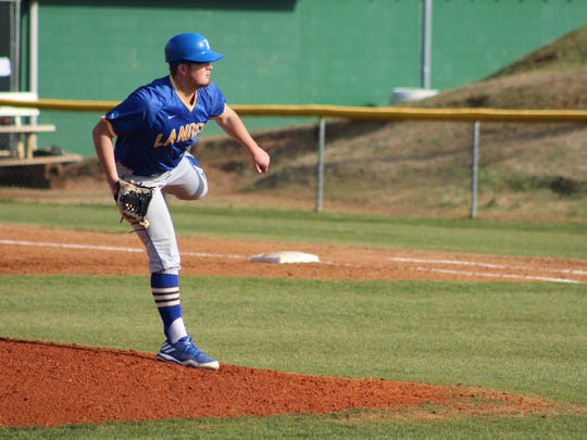 Lander left-hander Colton Rogers scattered eight hits over eight innings to earn the win Tuesday at Anderson.