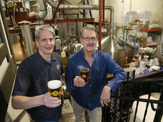 After 30 years, the brewery that the Klisch brothers, Russ, left, and Jim, built, doesn't rest on its beer laurels. Russ is a brewery co-founder and president.