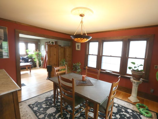 The dining room at 53 Girton Place in Rochester Friday,