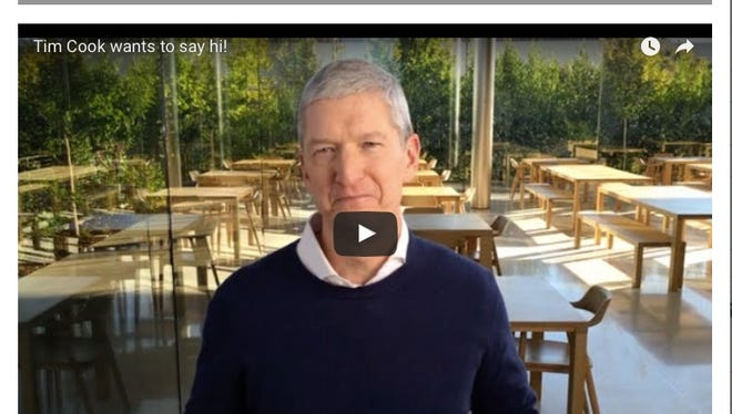 Tim Cook in the Cerebral Palsy Foundation video.