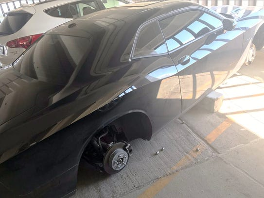 The wheels and tires were stolen from Abdullah Alkeilani's