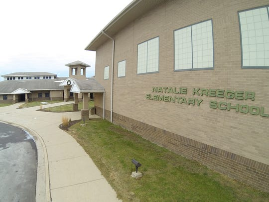 The only Fowlerville school with a rooftop that is completely vaulted, Natalie Kreeger Elementary School, shown Thursday, Dec. 21, 2017, is in need of repairs.