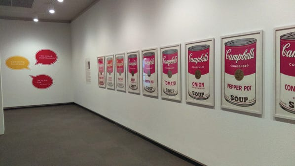 "The Springfield Art Museum had a collection of Andy Warhol soup can prints on display for a recent show, ""The Electric Garden of Our Minds: British/American Pop."" The exhibition is closed due to an ongoing police investigation into a commercial burglary that took place at the museum late Wednesday or early Thursday."