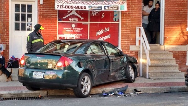 A vehicle hit a structure on the 200 block of South Pine Street on Tuesday morning, 911 confirmed.