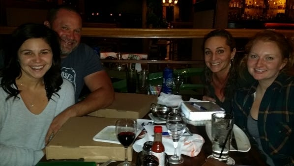 Chelsea Schupp, Chris Heavner, Angie Smith and Ashley Roth gather at K Town Tavern.