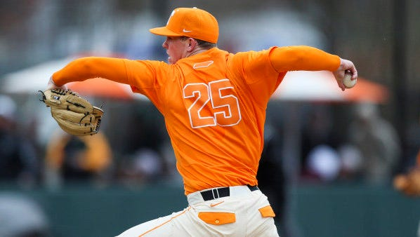 Freshman Zach Linginfelter struck out a career-high eight batters in Tennessee's extra-inning win over Texas A&M.