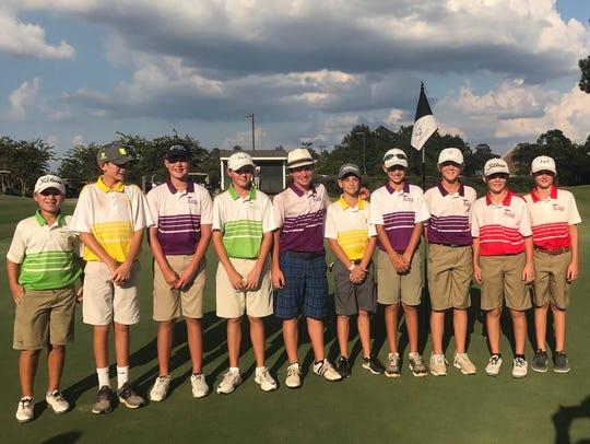 The Shreveport All-Stars in the PGA Junior League.