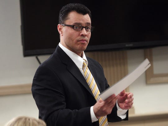 Andrew W. Pena before opening statements on the first day of his retrial. Pena, will represent himself on charges of sexually assaulting a woman outside a Butler bagel shop in 2007. October 27, 2015, Morristown, NJ.