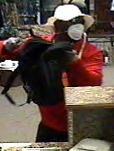 Mauldin police say this man used a gun to rob a bank on Woodruff Road.