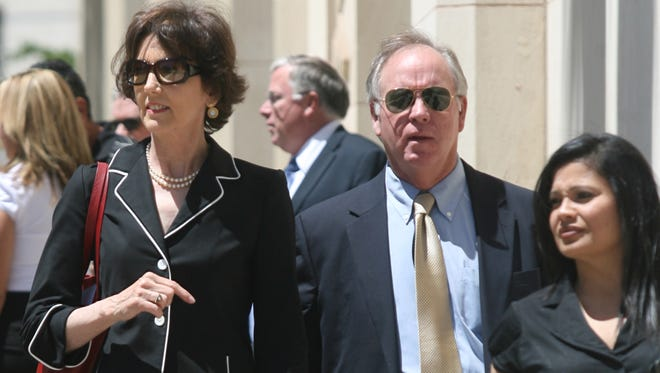 Melissa O'Rourke, left, and supporters left the U.S. Courthouse after a hearing in May, 2010.