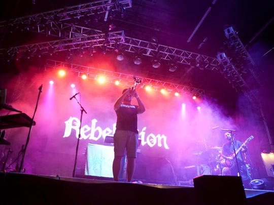 Rebelution performs  during the Pot of Gold Music Festival at Rawhide, Saturday, March 18, 2016, in Chandler.