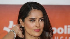 The normally appropriately dressed Salma Hayek.