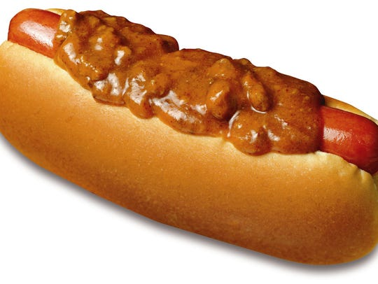 Chili dog from Wienerschnitzel.